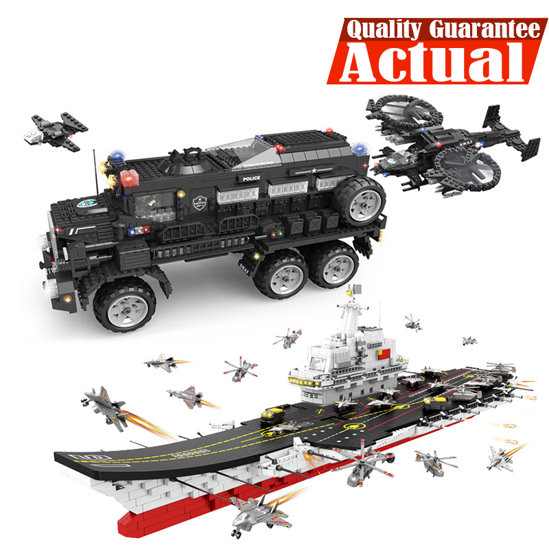 Military SWAT Riot Armored Vehicle Fighter Carrier Figures Building Blocks Bricks Educational legoingly Toys For Children Boys 8 in 1 military ship building blocks toys for boys