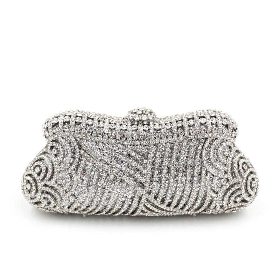 ФОТО Free Shipping Vintage Luxury Crystal Bag Sisters Party Handbag Lady Wedding Clutch Purse Wholesale Silver Pink Gold