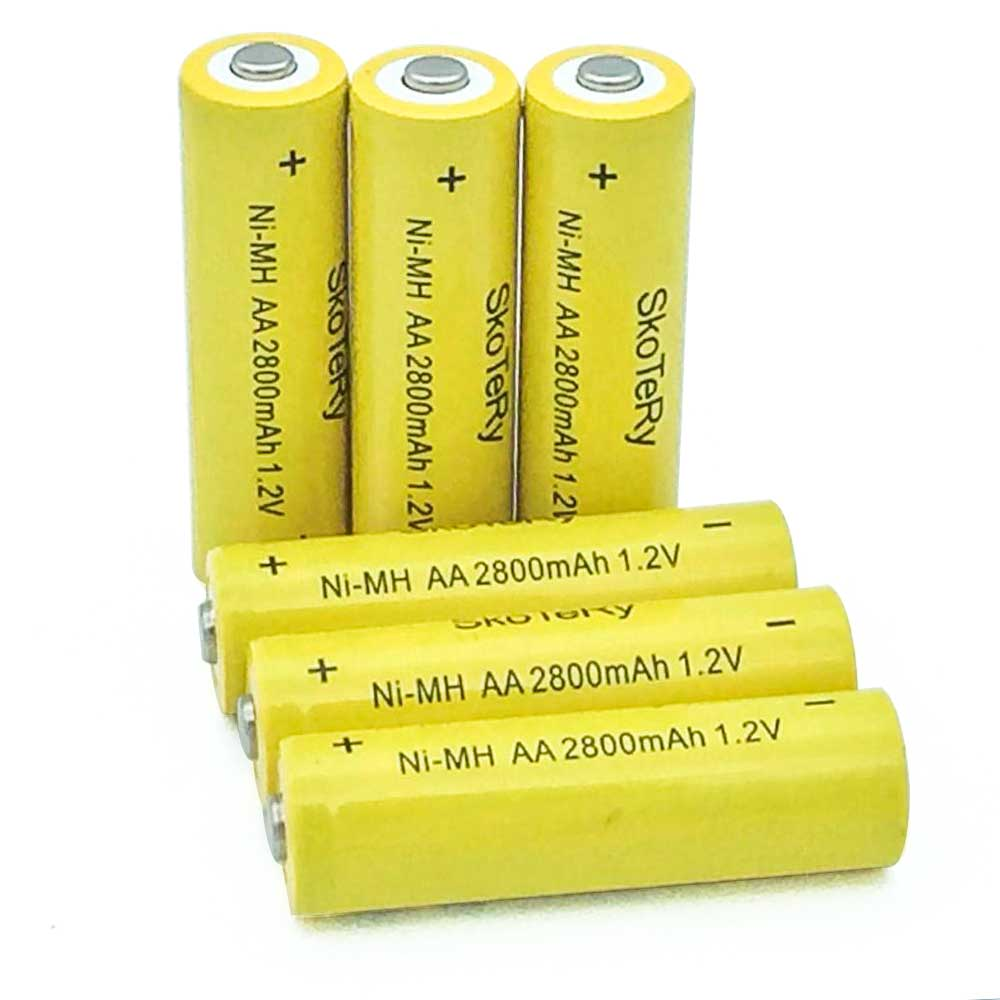 6pcs AA 2800mAh Ni-MH Rechargeable Batteries + 4pcs AAA 1800mAh Rechargeable Batteries For Flashlight/Camera