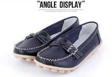 Новая внешняя торговля женщины плоские туфли Мягкое дно обувь обувь из натуральной кожи удобные ботинки отдыха
