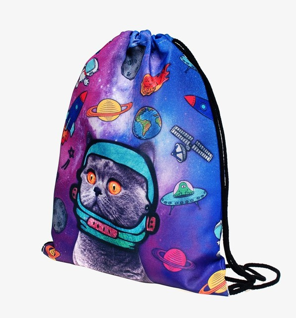 Space Cats 3D Print Mini Backpack