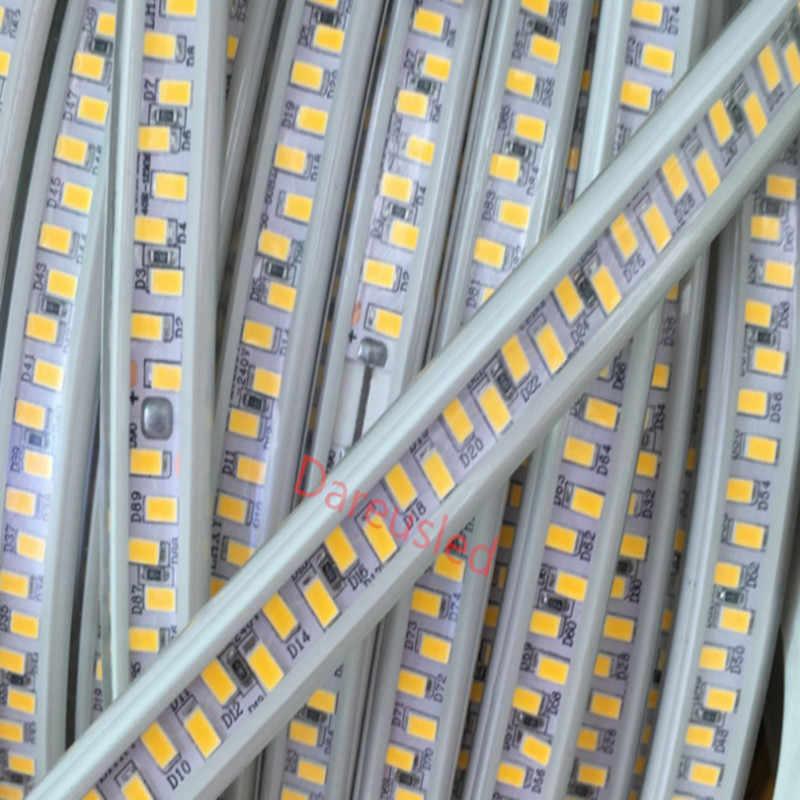 Mới 220V 180led/M Màu Trắng Mờ Flex LED Băng Siêu Sáng IP65 Chống Thấm Nước 5730 Dây ĐÈN LED Ánh Sáng