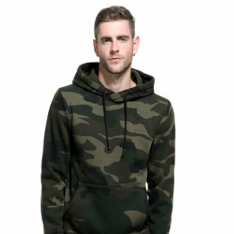 PAULKONTE 2019 New Autumn Winter Coat Camouflage Long Sleeved Mens Sweatshirt Casual Simple Style Men Hoodies