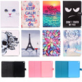 For iPad Air 2 Air2 9.7inch Case Lovely Pattern Wallet Flip PU Leather Tablet Shell Protector For Apple iPad 6 iPad6 Cover Funda