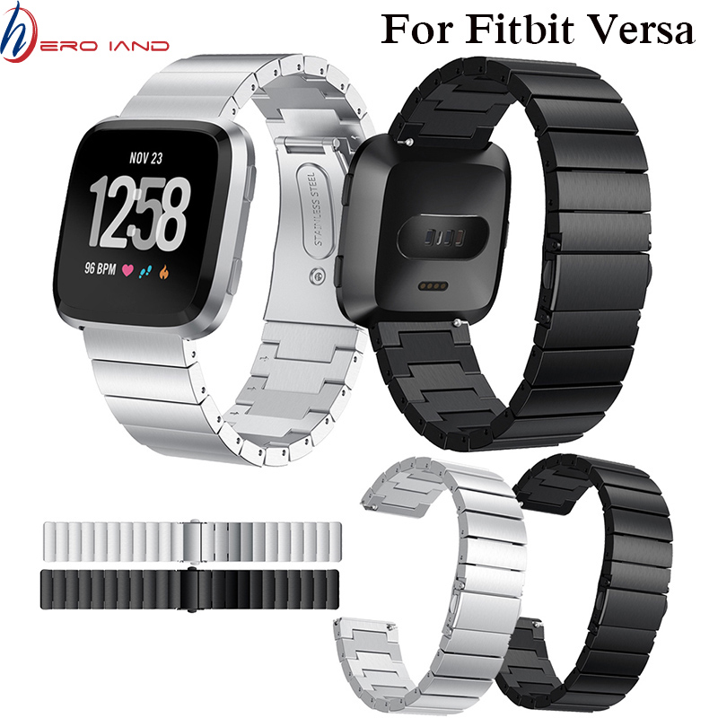 Screwless Bracelet Replacement Metal Wristbands Accessories For Fitbit Versa Stainless Steel Watch Strap For Fitbit Versa Band