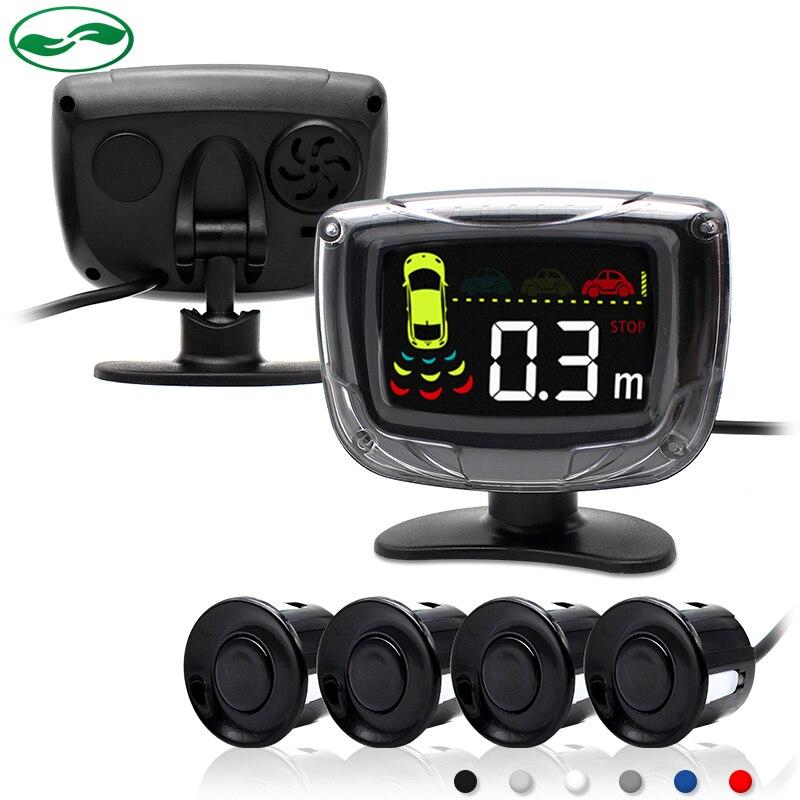 imágenes para Sensor de Aparcamiento LCD coche Asistencia Inversa Sistema de Monitor de Reserva Del Radar Con la Retroiluminación de la Pantalla 4 Sensores 6 colores