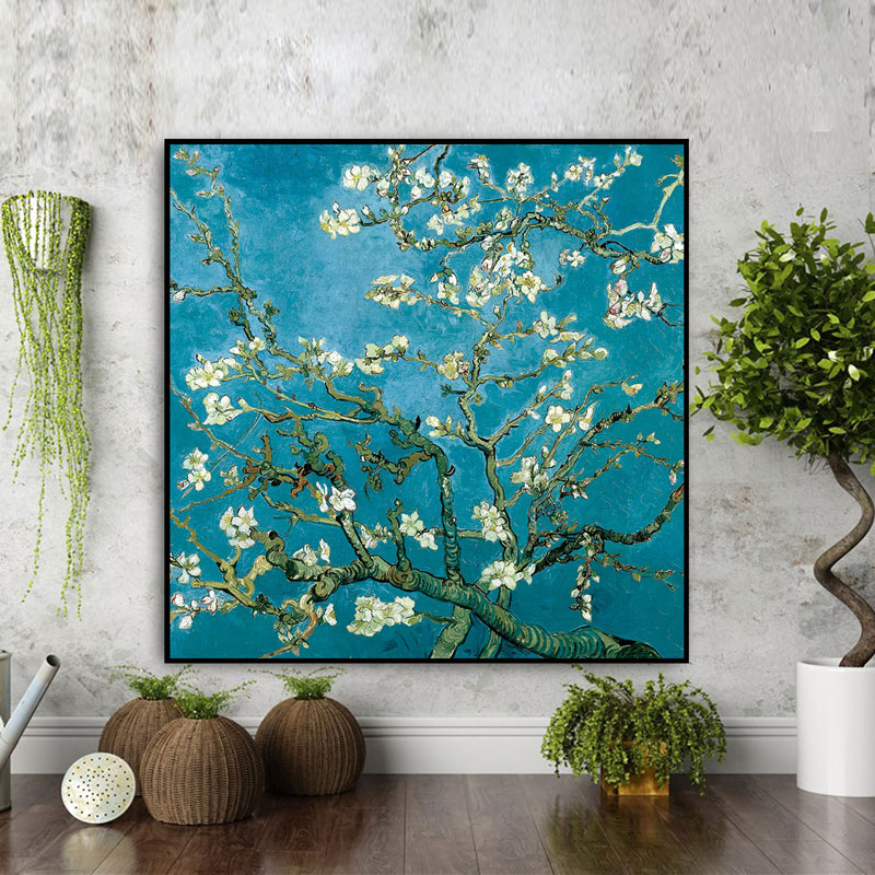 US $7.49 25% OFF|Apricot Flower Famous Artist Art Print Poster Wall Picture  Canvas Oil Painting Wall Decor/Decoration Maison Moderne-in Painting & ...
