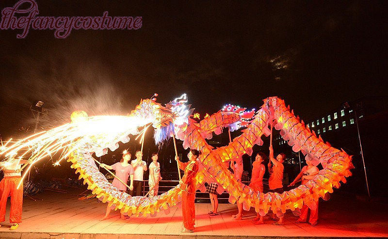 18m Längdstorlek 4 röd silke kläder belysning LED-ljus kinesisk - Maskeradkläder och utklädnad