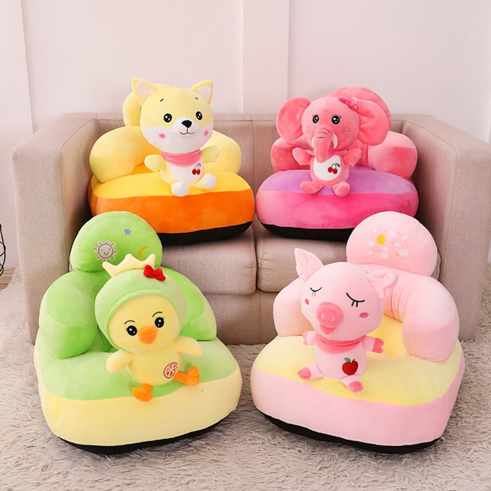 6 styles Cust tigre jouets en peluche bébé jouets en peluche siège Portable enfants chaise d'alimentation siège d'appoint siège sûr