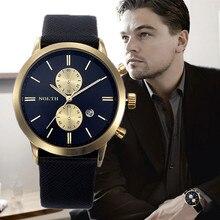 Relojes análogos de marca de top moda del 2015, de tipo militar para hombres, reloj de cuarzo deportivo para hombres con correa de cuero y a prueba de agua hasta 30m de profundidad