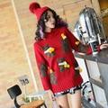 2017 primavera new Tailândia marca maré estudante cabeça urso vermelho bordado camisola feminino camisola