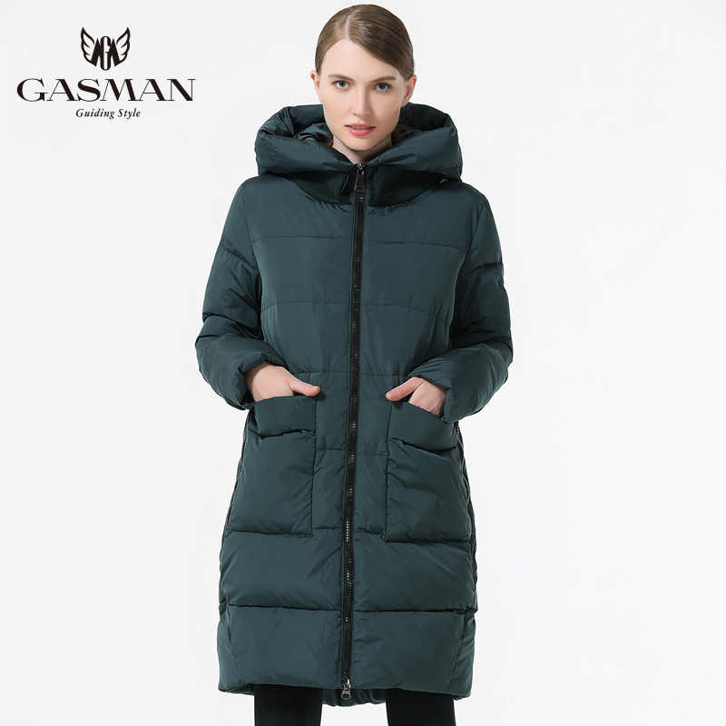 GASMAN 2019 Warme Vrouwen Jas Medium-Lange open jas grote size Fashion Vrouwen Down Jacket hooded 5XL 6XL