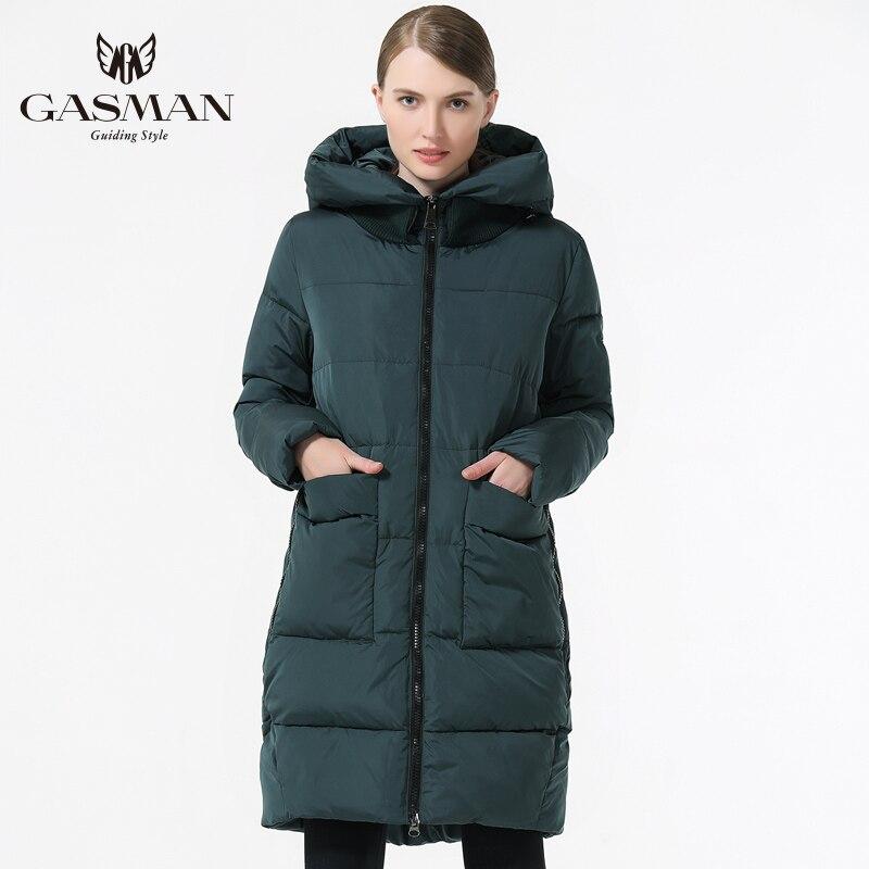 GASMAN 2019 Warme Frauen Jacke Medium Lange offene mantel große größe Mode Frauen Unten Jacke mit kapuze 5XL 6XL