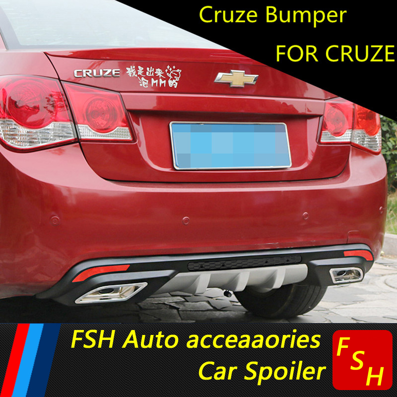 For Chevrolet Cruze Rear spoiler ABS Rear Bumper Diffuser Bumpers Protector For Cruze Body kit bumper rear lip rear spoiler 2009