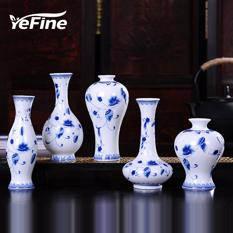 YeFine Classic Ceramic Vases For Flowers Exquisite Home Decor Small Flower Vase For Living Room Tabletop Ornaments Crafts vase