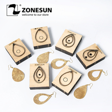 цены на ZONESUN Leather Earring Cutting Die Drop Shape Paper Art Leather Decoration Tool For Die Cutting Machine DIY Handicraft Cutter  в интернет-магазинах