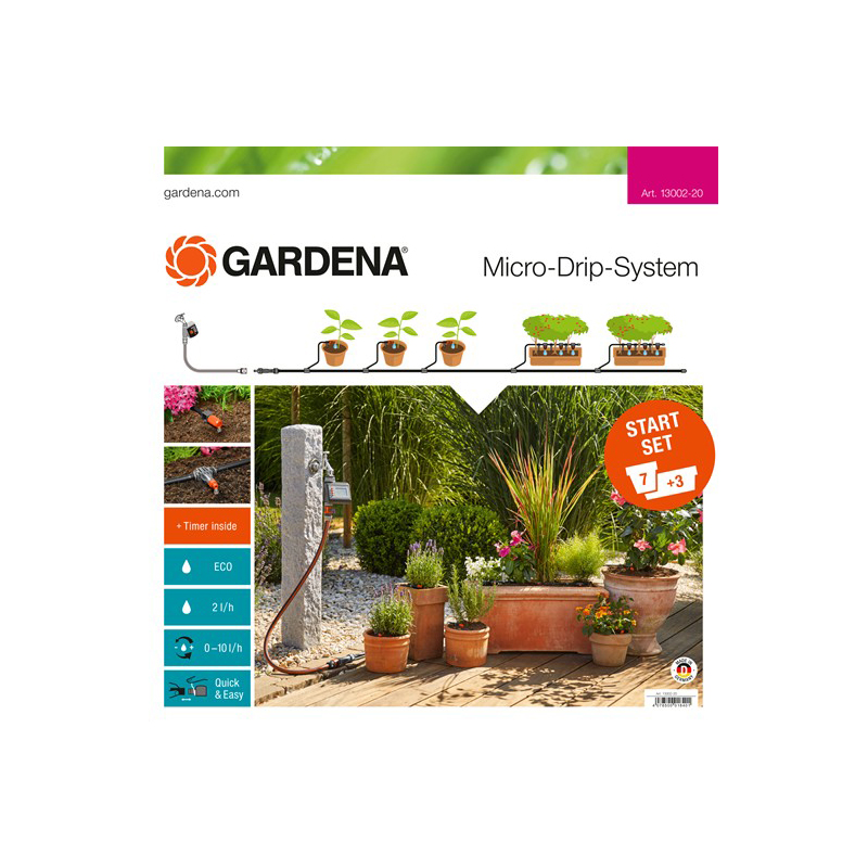 Micro-drip irrigation base setGARDENA 13002-20 Home & Garden Garden Supplies Watering & Irrigation Watering Kits watering kit gardena micro drip systen base