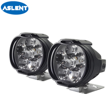 Aslent 2pcs Super Bright Motorcycles LED Headlight Lamp Scooters Car Fog lights Spotlight Working Spot beam 1000Lm 6000K White