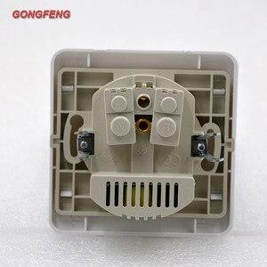 Новая 86 розетка настенного типа с двойным USB немецкая стандартная Европейская стандартная розетка панель кронштейн специальная оптовая продажа