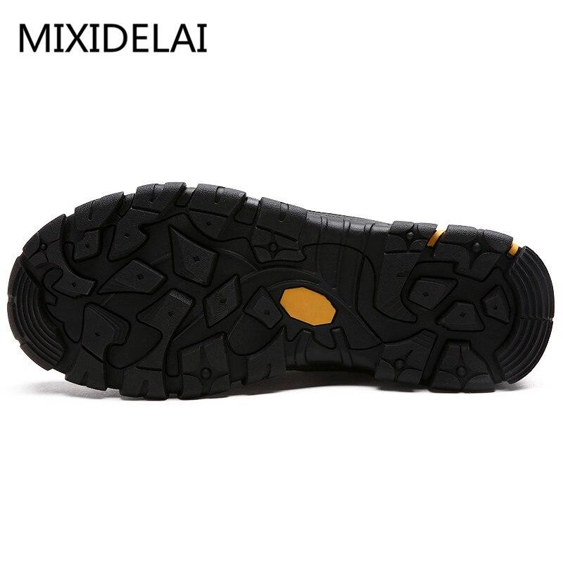 MIXIDELAI Durable hommes chaussures de sécurité en cuir véritable Oxford chaussures imperméables chaussures décontractées pour hommes confortable travail baskets homme - 3