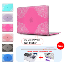 Lace Rose Red Background Laptop Computer Bag Case For Mac Apple Macbook Pro 15 For Macbook