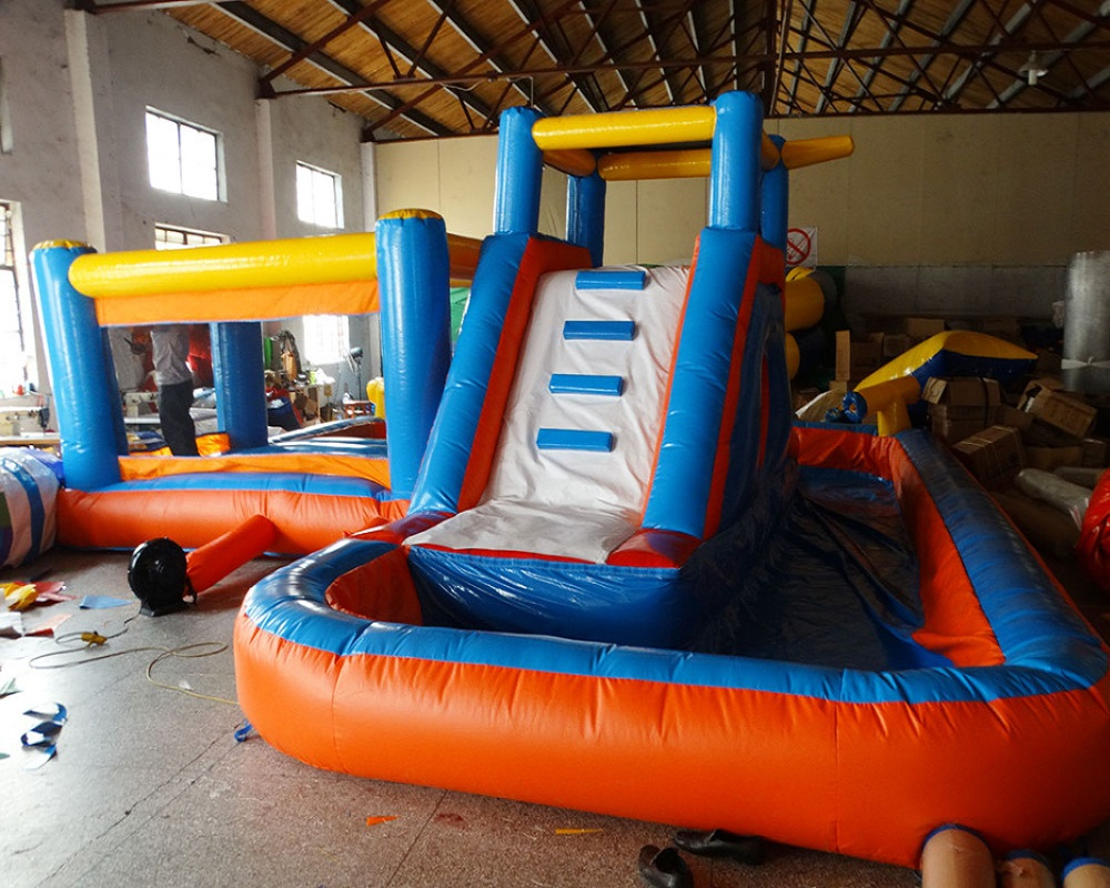 China suppler tiup castle slide tiup air slide tiup rumah bouncing komersial