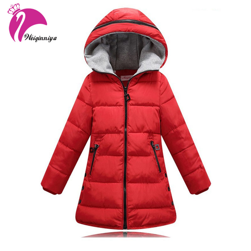 Brand Girls Outerwear Children Jackets Fashion Kids Warm Winter Hooded Long Coats Teenage Thicken Cotton-padded Zipper Clothes girl winter coat 2018 fashion children warm hooded jackets girls cotton padded long parka outerwear kids casual thicken clothes