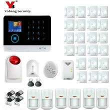 YobangSecurity WiFi GSM GPRS RFID Wireless Security Alarm System Wireless Siren Gas Smoke Fire Detector For Business and Home