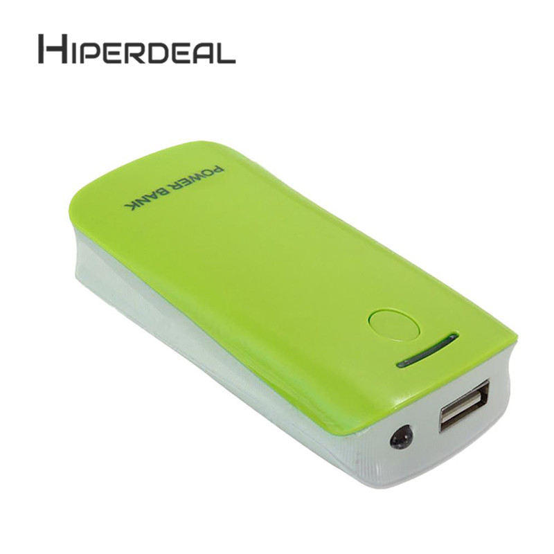 HIPERDEAL DIY 2*18650 Battery Power Bank Charger Box For iPhone Smartphone Rechargeable Battery Power Wall Adapter 1Sp8