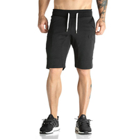New Mens Cotton Shorts Calf Gyms Fitness Bodybuilding Casual Joggers Workout Brand Sporting Short Pants Sweatpants