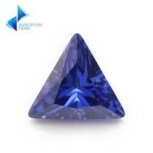 3x3 ~ 10x10мм треугольной формы 5А голубой cz камень искусственные