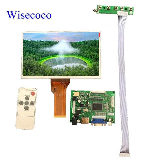 Pantalla LCD de 9 pulgadas Monitor TFT AT090TN12 con controlador de entrada HDMI VGA para Raspberry Pi 3
