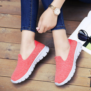 Image 5 - MWY Summer Women Sneakers Mesh Flats Shoes Comfortable Driving Shoes Basic Outwear Slip On Femail Casual Shoes tenis feminino