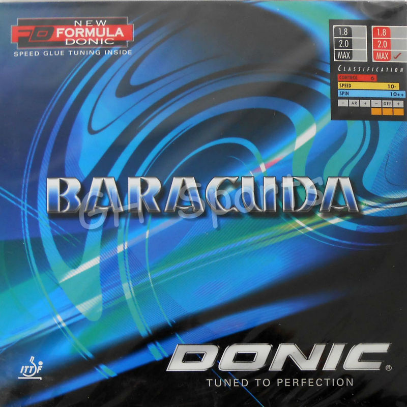 Donic BARACUDA 12080 12080 Pips in Table Tennis PingPong Rubber With Sponge with a cake sponge