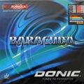 Donic Barracuda 12080 #12080 Pips-en tenis de mesa de ping pong de goma con esponja con un pastel de esponja de tenis de mesa raqueta