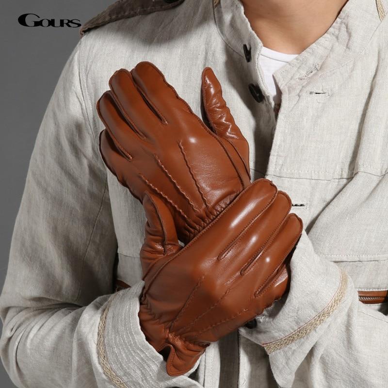gours 2017 new men 39 s winter genuine leather gloves fashion brand black warm gloves classic. Black Bedroom Furniture Sets. Home Design Ideas