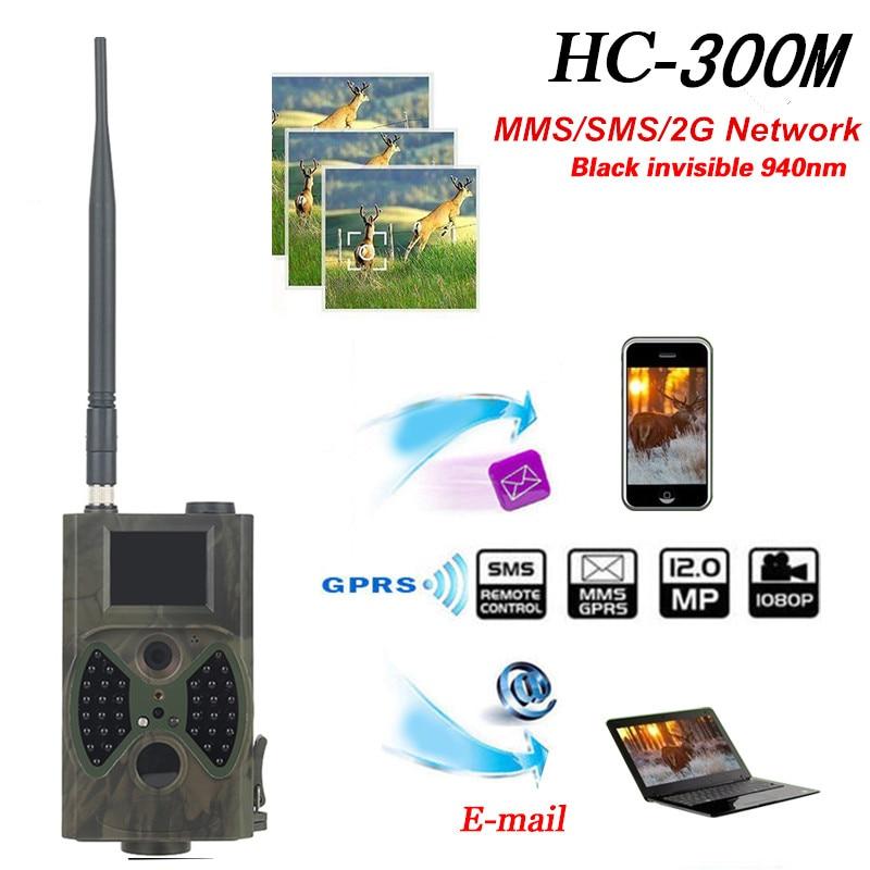 HC-300M HD 12MP Photo traps 940NM 720P No flash 12MP Wildlife Scouting Camera Hunting trail cameras MMS/SMS/GPRS/SMTP jho hc 300m hd 12mp 940nm photo trap scout hunting camera telecamera infrared