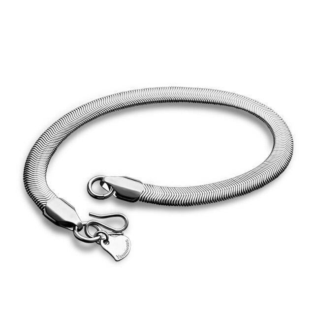 Мужской серебряный браслет фото