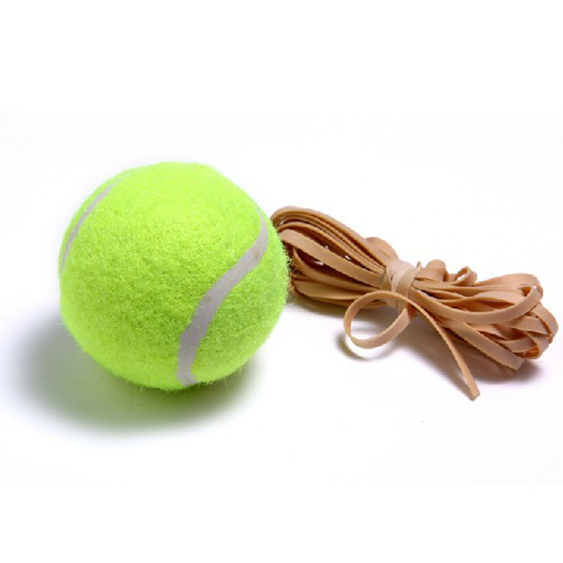 10 Pcs FANGCAN Single Package Tennis Ball, Training Rubber String Ball, Special Feather Rebounce Balls