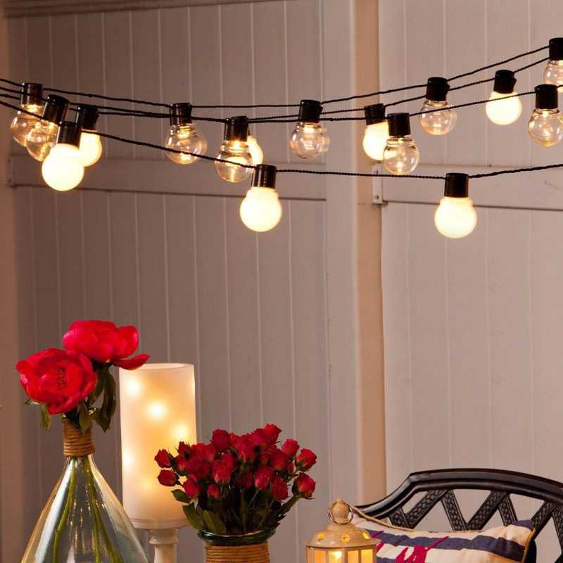 10M 38 5CM Big Size Balls LED String Fairy Christmas Lights Outdoor