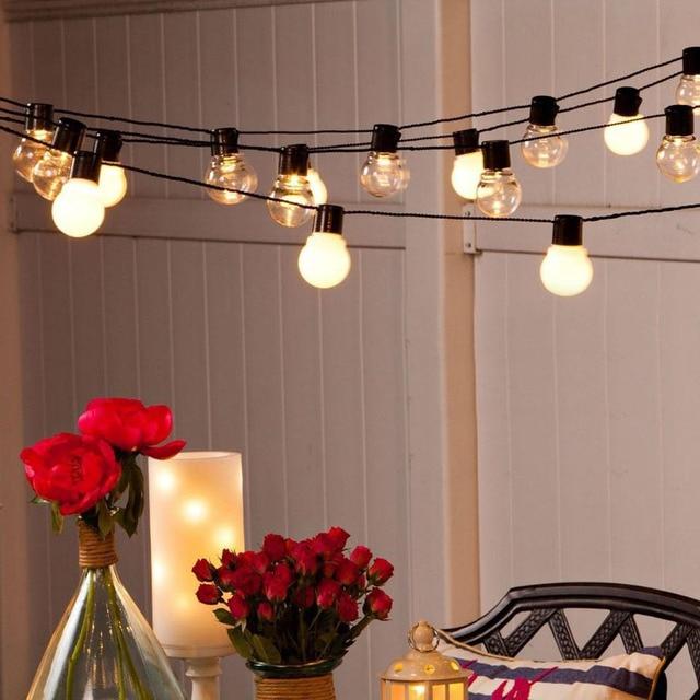 5 m 20 Boules Blanc LED Cordes Guirlande lumineuse Guirlande