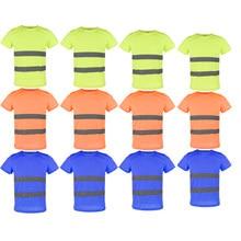 T-shirt manches courtes | Vêtement réfléchissant et respirant 1x, sécurité, séchage rapide, haute visibilité, L XXXL, livraison directe