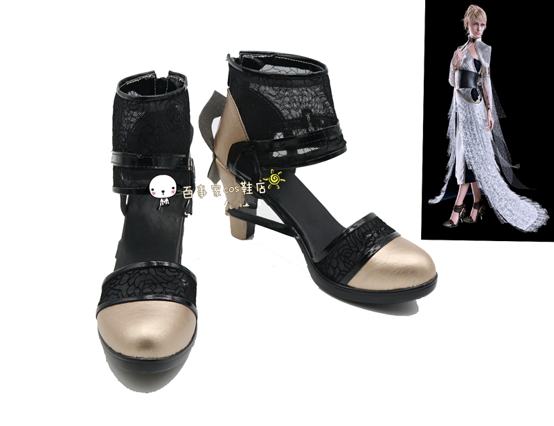 Final Fantasy XV Lunafrena Nox Fleuret Cosplay Shoes FFXV FF15 Anime Boots