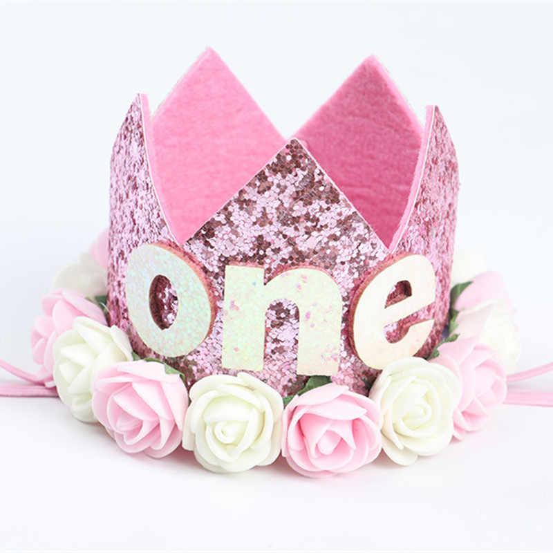 Шляпы для вечеринки по случаю Дня Рождения для маленькой девочки I Am One шапки для первого дня рождения Принцесса Корона номер 1 От 2 до 3 лет шляпа Беби Шауэр детский сувенир