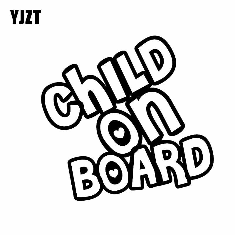YJZT 14 см * 13,5 см ребенка на борту Забавный Виниловые автомобилей Стикеры пропуск знак черный, серебристый цвет C10-00636
