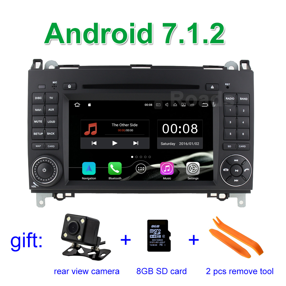 Android 7.1 Car DVD Player for Mercedes/Benz A/B class W169 W245 Viano Vito VW Crafter B200 with Canbus WiFi GPS Radio crafter castaway a n