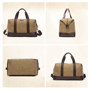 Image 4 - Vintage Canvas Bags for Men Travel Hand Luggage Bags Weekend Overnight Bags Big Outdoor Storage Bag Large Capacity Duffle Bag