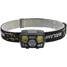 PANYUE XPE COB Mini LED Headlamp with Sensor 6 Working Modes Head lamp for Kids White light& Red Light