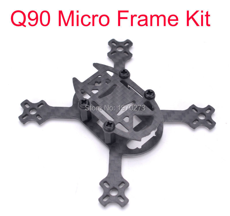 Q90 90mm Carbon Fiber Micro Quadcopter Frame Kit 90 with 1.5mm Arm Support 1104 / <font><b>1103</b></font> <font><b>Motor</b></font> 2030 Propeller for RC FPV Drone image