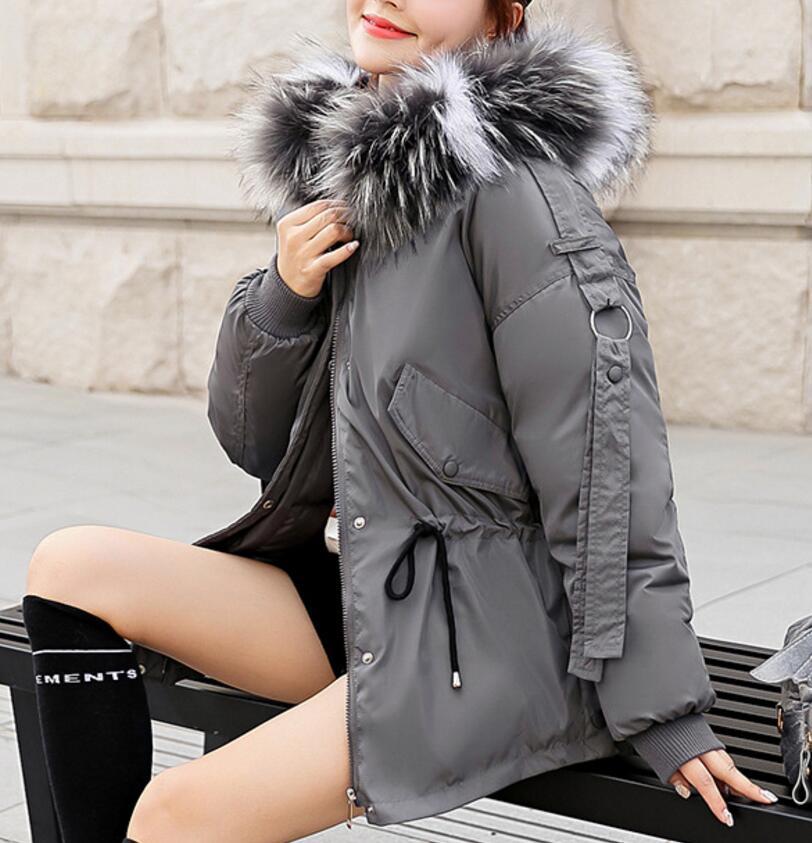 Vers 4 Le Coton Bas Femmes as as Lâche De Capuchon 1 as Col As 3 Robe 2 D'hiver Court Chapeau Circuler Cheveux Grand 2018 À Manteau Mode Photo xqPwpzvp